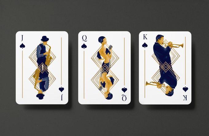 """""""GUNS, JAZZ & WHISKY"""" : cartes à jouer au style """"Années folles"""" 1"""